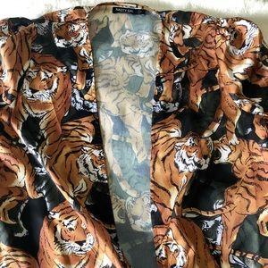 Tiger Satin Top